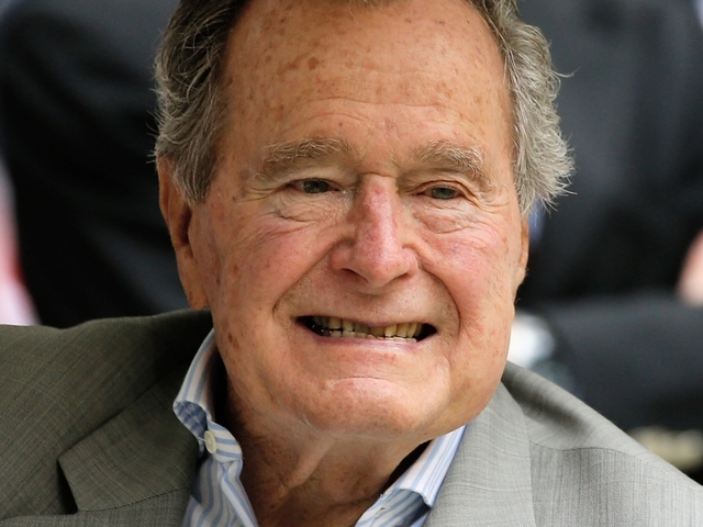 Former President George H.W. Bush in hospital
