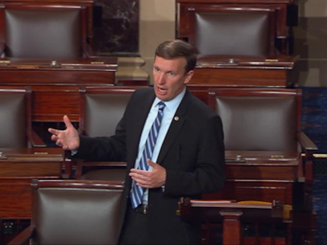 Illinois' US Sen. Durbin takes the floor during filibuster