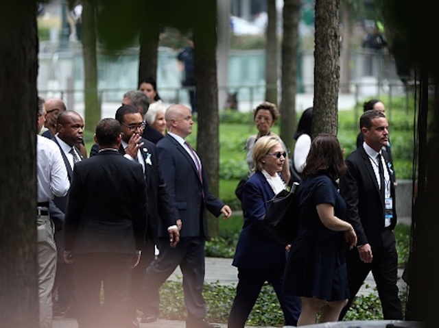 Clinton leaves 9/11 ceremony after feeling 'overheated'