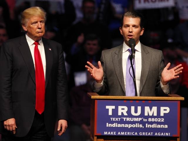 Donald Trump's son compares Syrian refugees to 'lethal candies'