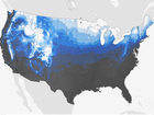 Map shows where snow will fall on Christmas Day