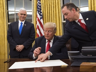 Trump's three first official acts as president