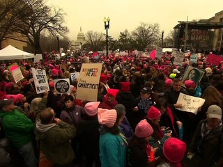 Thousands of women gather for March on DC