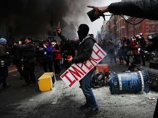 Anti-Trump protesters face rioting charges