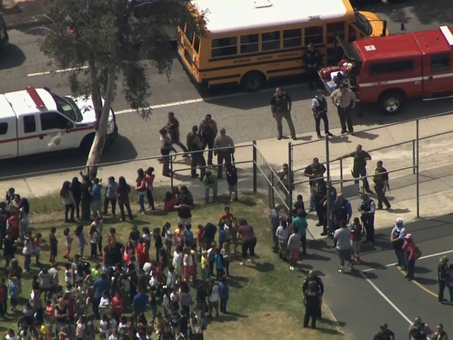 Two people shot at California school