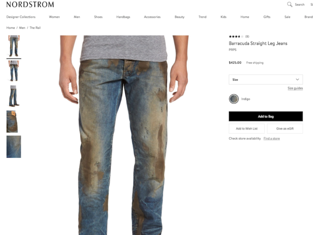 wxyz.com - Clint Davis - Nordstrom sells jeans with fake mud on them for $425; Critics let loose