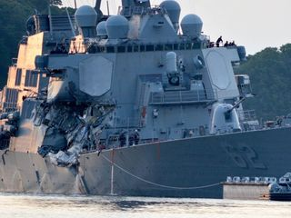 How two ships may have collided