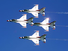 Military jet crashes at Dayton Air Show practice