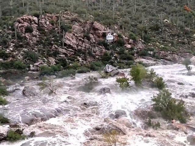 17 hikers rescued from flooded creek
