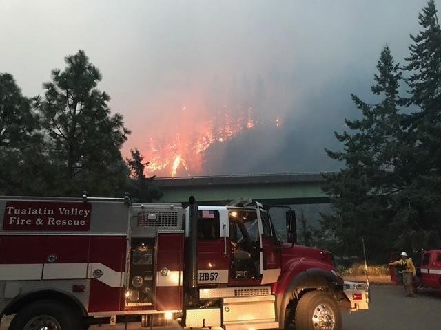Eagle Creek Fire merges with Indian Creek Fire