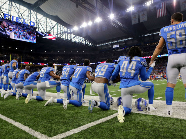 National Football League players continue their protests