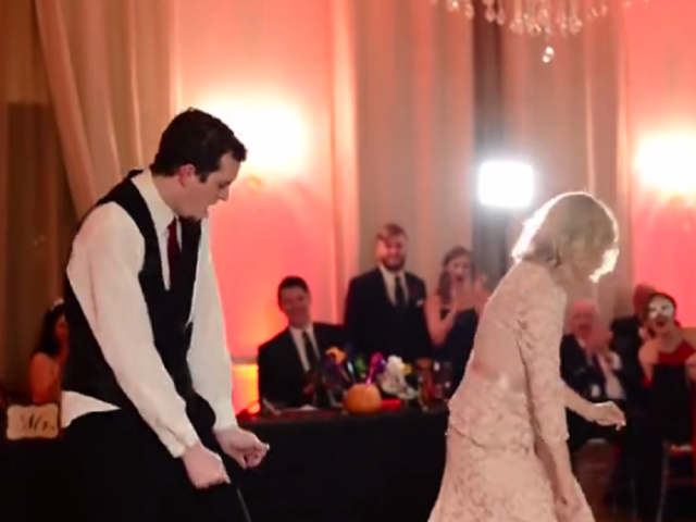 WATCH Mother And Son Pull Off Epic Wedding Dance
