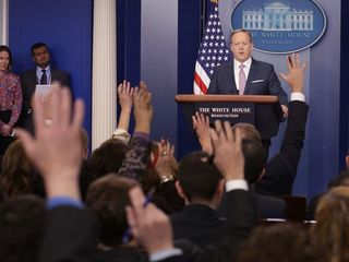 Spicer holds first White House press briefing