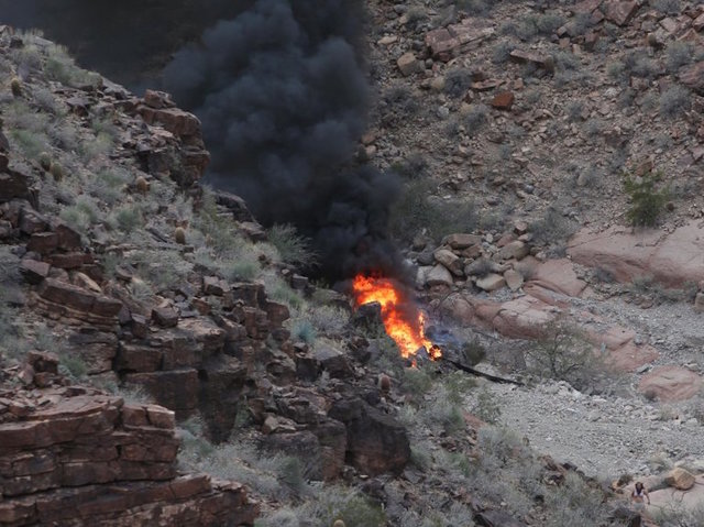 Helicopter Crashes In The Grand Canyon