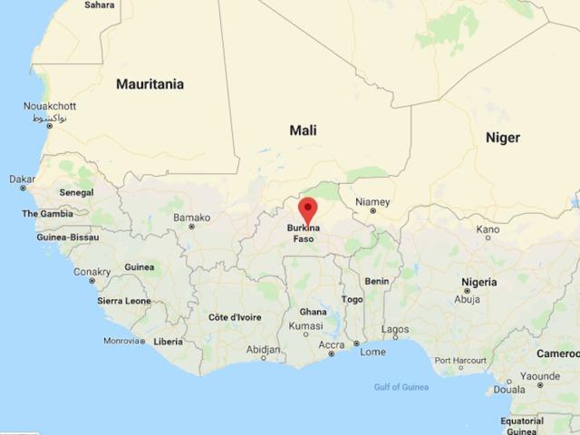 Google Map of Ougadougou Burkina Faso