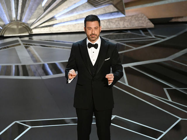 Kimmel launches 'positive' Oscars, tries to be less political