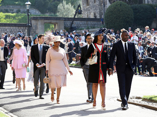 Celebrities arrive for the Royal Wedding