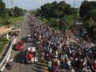 Migrant caravan presses north through Mexico